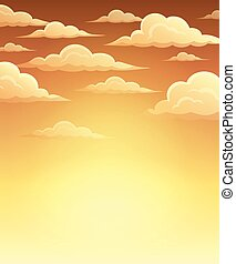Autumn sky theme background 1
