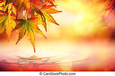 Autumn spa background