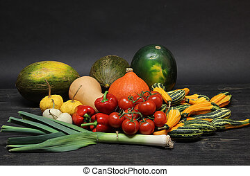 Different vegetables on the table