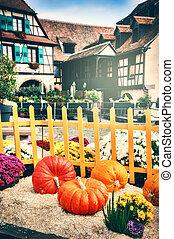 Autumn street decoration