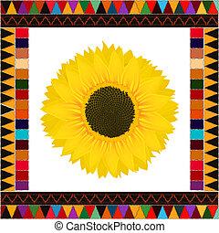 Autumn sunflower background