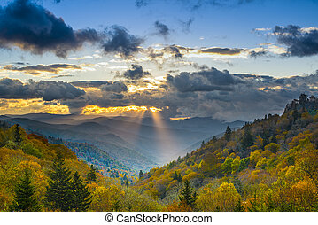 Smoky Mountains - Autumn sunrise in the Smoky Mountains...