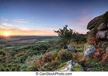 Autumn Sunrise on the Moors - Beautiful Autumn sunrise over ...