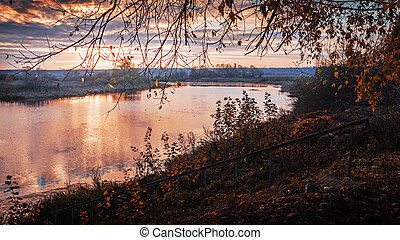 autumn sunrise on the river 2