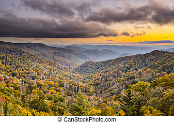 Smoky Mountains - Autumn sunset in the Smoky Mountains...