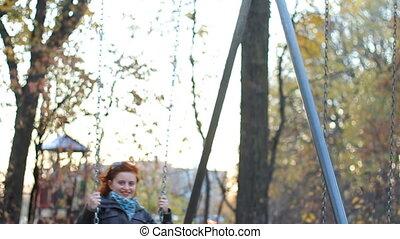 Autumn swing chair