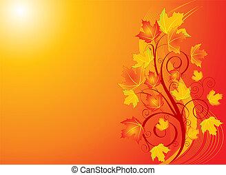 Autumn swirl backgroound