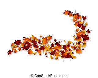 Autumn swirl leaves.