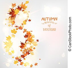 Autumn swirl of leaves