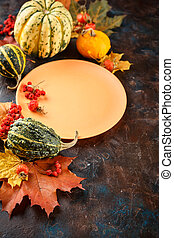Autumn table setting.