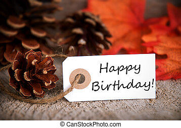 Autumn Tag with Happy Birthday