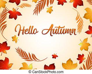 Autumn thanksgiving background template