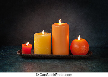 Autumn thanksgiving candles