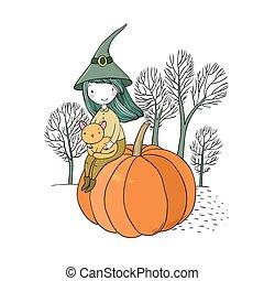Autumn theme. Halloween.