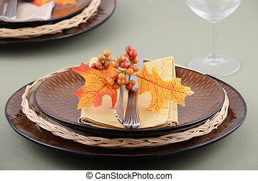 Autumn theme place setting