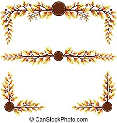 Autumn themed leaves decorations - Autumn themed leaves...