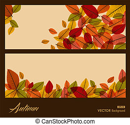 Autumn transparent leaves. Fall season background. EPS10 file.
