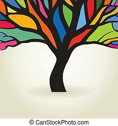 Autumn tree. A vector illustration