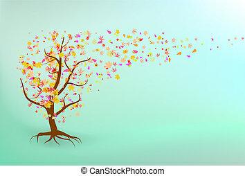 Autumn tree background.