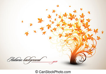 Autumn Tree | Clean Vector Composition | EPS10