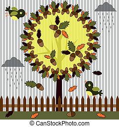 Autumn, tree