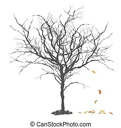 Autumn tree. Fall. Season concept illustration