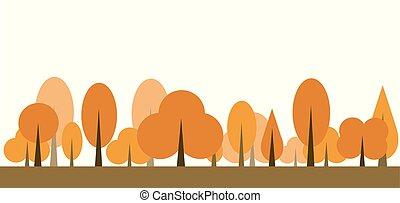 Autumn tree icon vector illustration