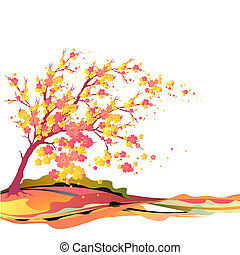 autumn; tree