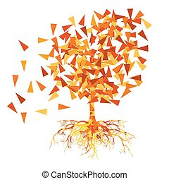 Autumn tree vector background