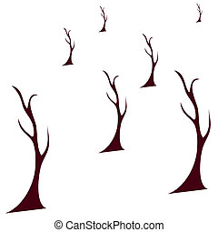 Autumn Tree Vector Illustration.