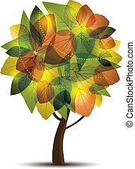 vector illustration of an autumn tree