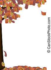 Autumn Trees - an illustration of a tree in autumn colors