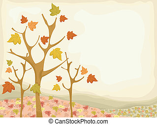 Autumn Trees Background