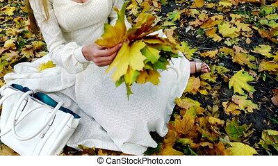 Autumn unrecognizable girl in fashion and lifestyle lyrics ...