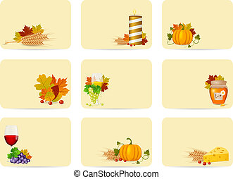 Autumn - Vector autumn cards set