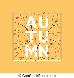 Autumn, vector background