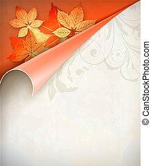 Autumn Vector Corner Card