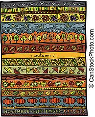 Autumn vector design background