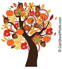 Autumn - vector fall tree