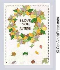 Autumn vector illustration for design.