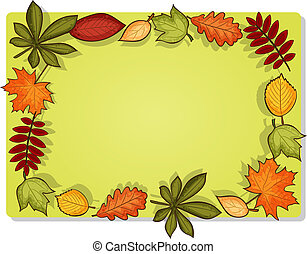 Autumn vector rectangular frame