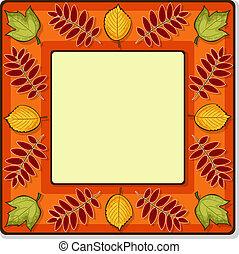 Autumn vector square frame