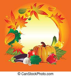 autumn vegetables