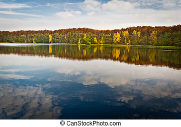 Autumn view at the lake