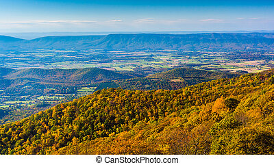 Autumn view from Skyline Drive in Shenandoah National Park, Virginia.