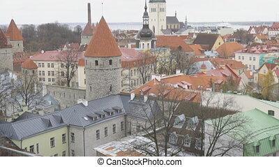 Autumn view of old city. Estonia, Tallinn.