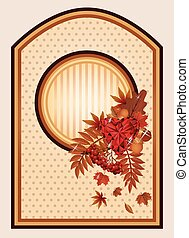 Autumn vintage background, vector