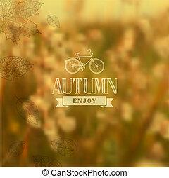 Autumn vintage blurred background