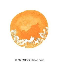 Autumn watercolor background
