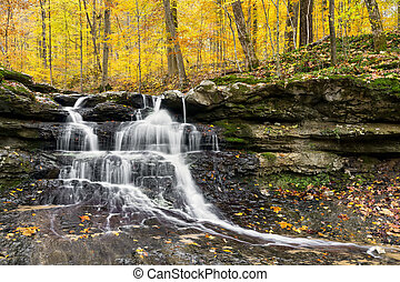Autumn Waterfall at Tailwater - Tailwater Falls, a beautiful...